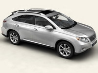 Lexus RX 2010 low res interior 3D Model