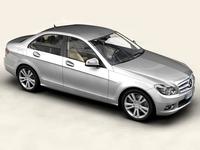 Mercedes C-Class 2007 3D Model