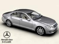 Mercedes S-Class 2006 3D Model