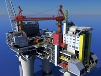 Oil Gas Platform 3D Model