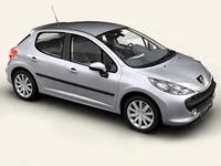 Peugeot 207 5 door 3D Model