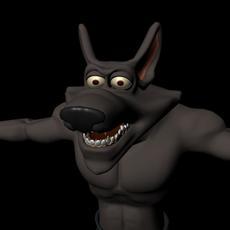 Cartoony werewolf 3D Model