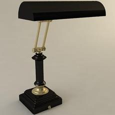 Banker Style Adjustable Lamp 3D Model