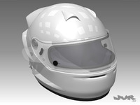 Racing car helmet 3D Model
