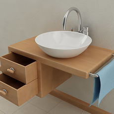 Wallmounted Bathroom Sink 3D Model