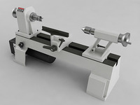 Variable Speed Mini Lathe 3D Model