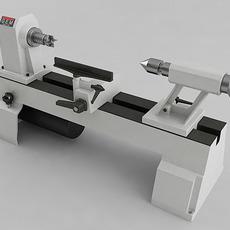 Variable Speed Mini Lathe 3D Model