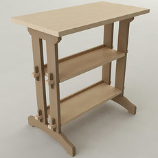 Woodworking Shop Table 3D Model