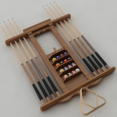 Pool Stick Rack 3D Model