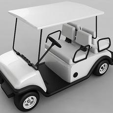 Golf Cart Vray 3D Model