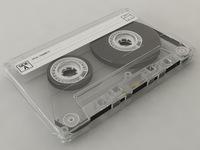 Compact Cassette Tape 3D Model
