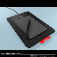 Bamboo Pen & Tablet 3D Model