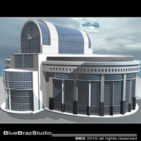 European Parliament 3D Model