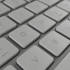Apple Wired Keyboard 3D Model