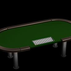 Poker tournament table 3D Model