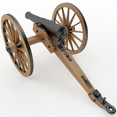 Napoleon Model 1841 6 pounder 3D Model