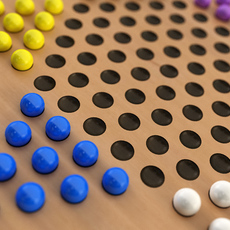 Chinese Checkers 3D Model