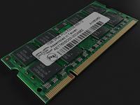 DDR2 SODIMM Ram 3D Model