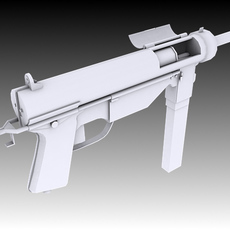 M3 Grease Gun 3D Model