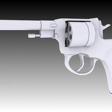 Nagant M1895 Revolver 3D Model