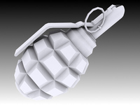 F1 Grenade 3D Model