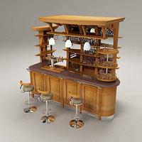 BAR cafe 3D Model