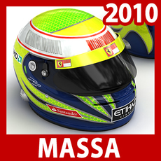 2010 F1 Felipe Massa Helmet 3D Model