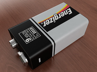 9V Battery 3D Model