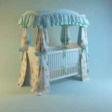 Сradle - bed for child 3D Model