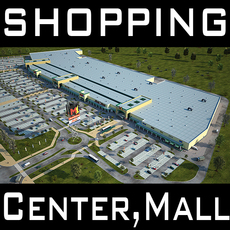 Retail Store Mall M1 Full Textured Scene Render Ready 3D Model