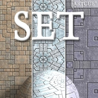 floor tiling set 001