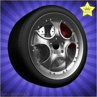 Car wheel 002 3D Model