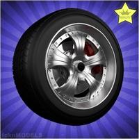 Car wheel 003 3D Model