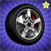 Car wheel 008 3D Model