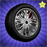 Car wheel 009 3D Model