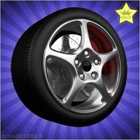 Car wheel 010 3D Model