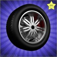 Car wheel 006 3D Model