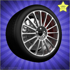 Car wheel 012 3D Model
