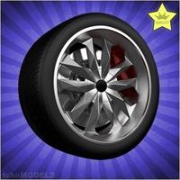 Car wheel 013 3D Model