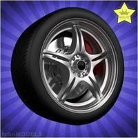 Car wheel 015 3D Model