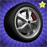 Car wheel 016 3D Model
