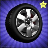 Car wheel 018 3D Model