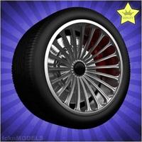 Car wheel 019 3D Model