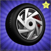 Car wheel 020 3D Model
