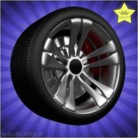 Car wheel 022 3D Model