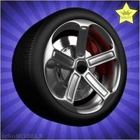Car wheel 024 3D Model