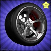 Car wheel 026 3D Model