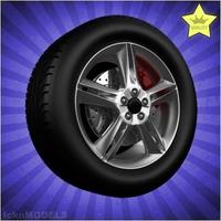 Car wheel 028 3D Model