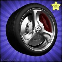 Car wheel 029 3D Model
