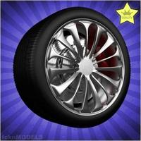 Car wheel 030 3D Model
